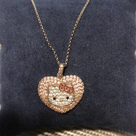 50c6f16c1 Jewelry | Hello Kitty Swarovski Pink Heart Pendant Necklace | Poshmark